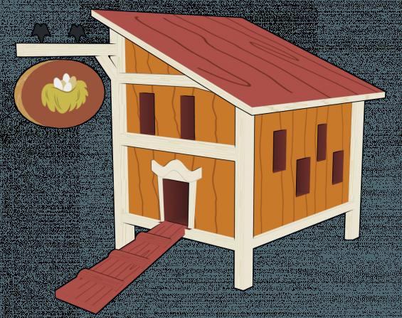 Chicken coop clip art. Doghouse clipart hen house