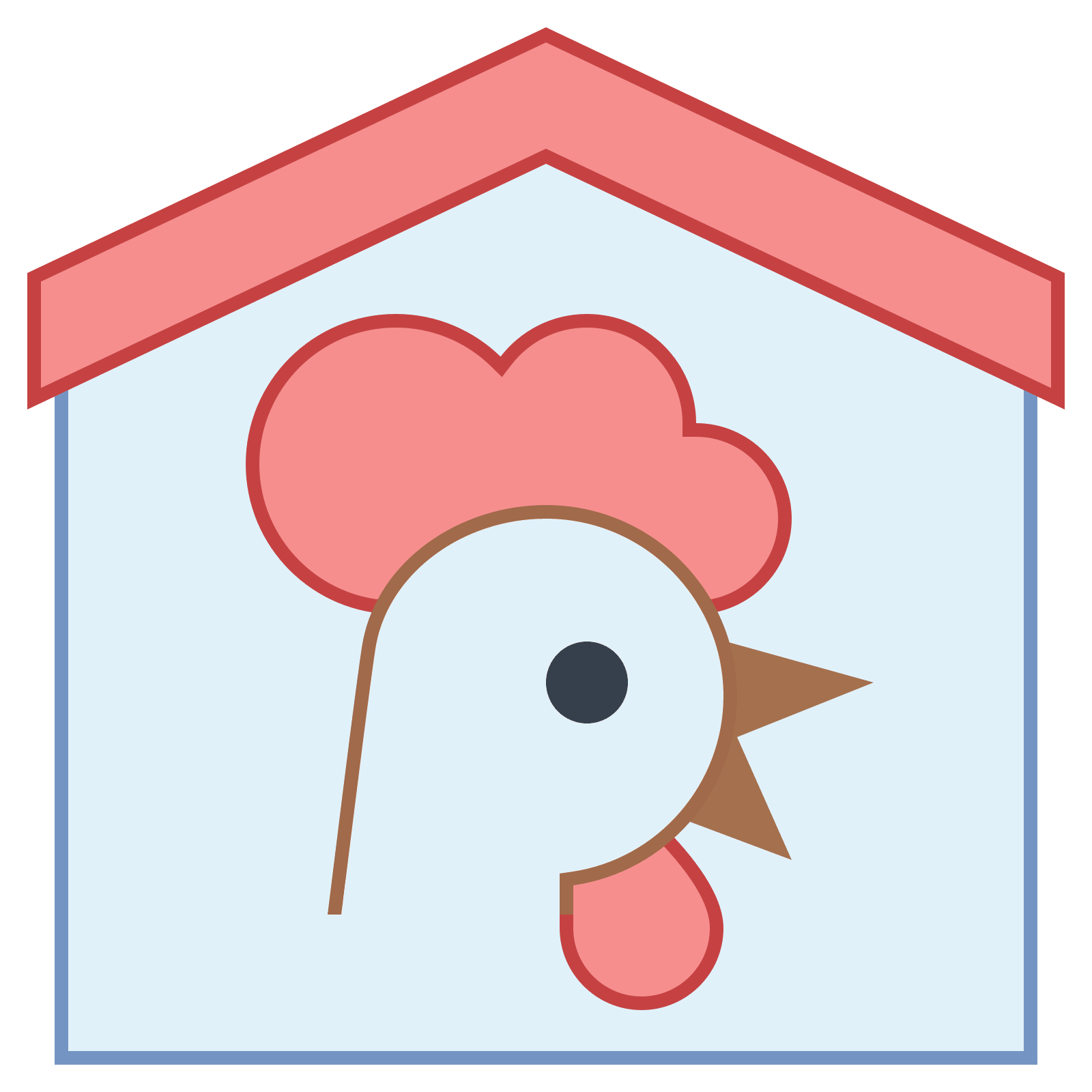 Doghouse clipart hen house.  farm png icon