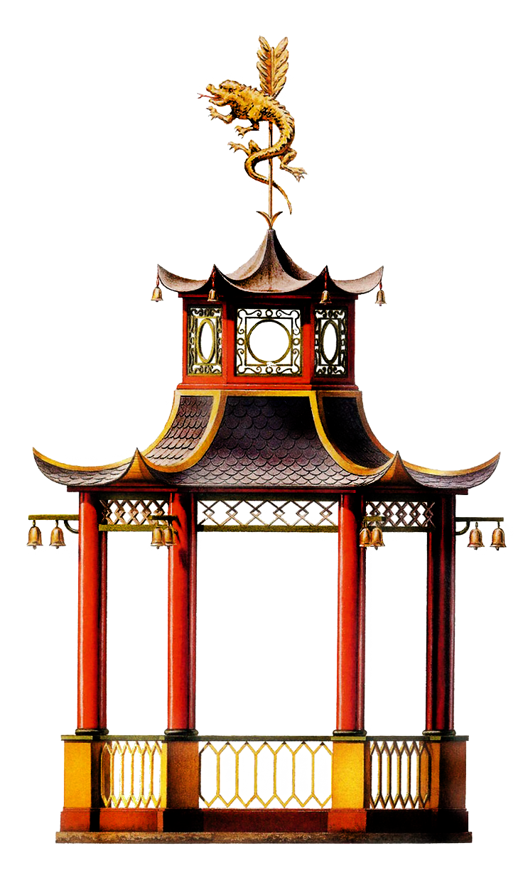 Palace clipart pagoda chinese. Victorian gazebo elevation png