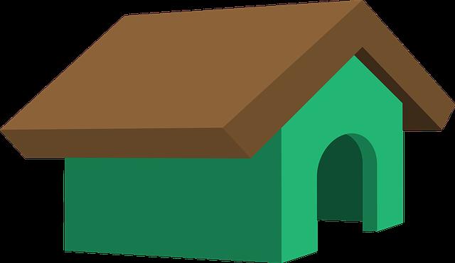 doghouse clipart inside outside