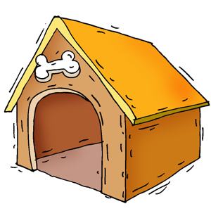 Doghouse clipart kennel. Free cliparts download clip