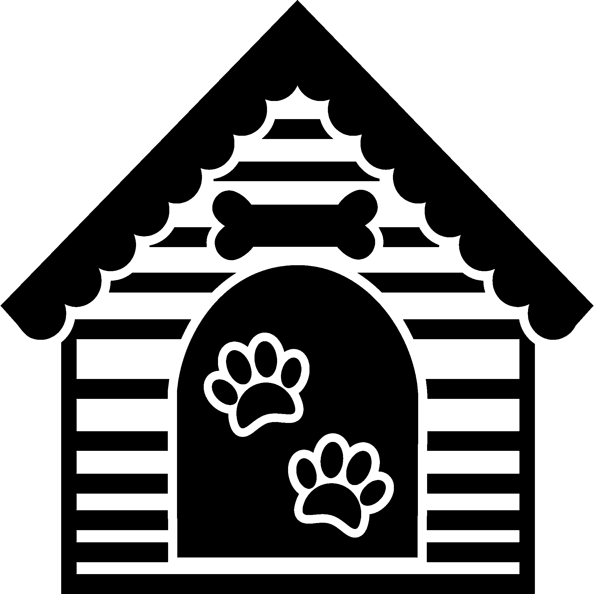 Sticker design stickers animaux. Doghouse clipart niche