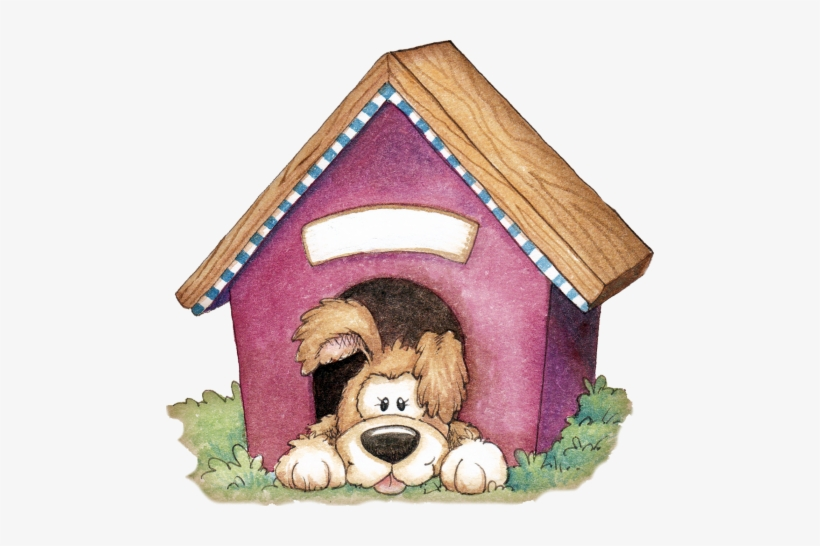 Dogs dog inside the. Doghouse clipart puppy