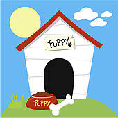 Doghouse clipart puppy. Panda free images