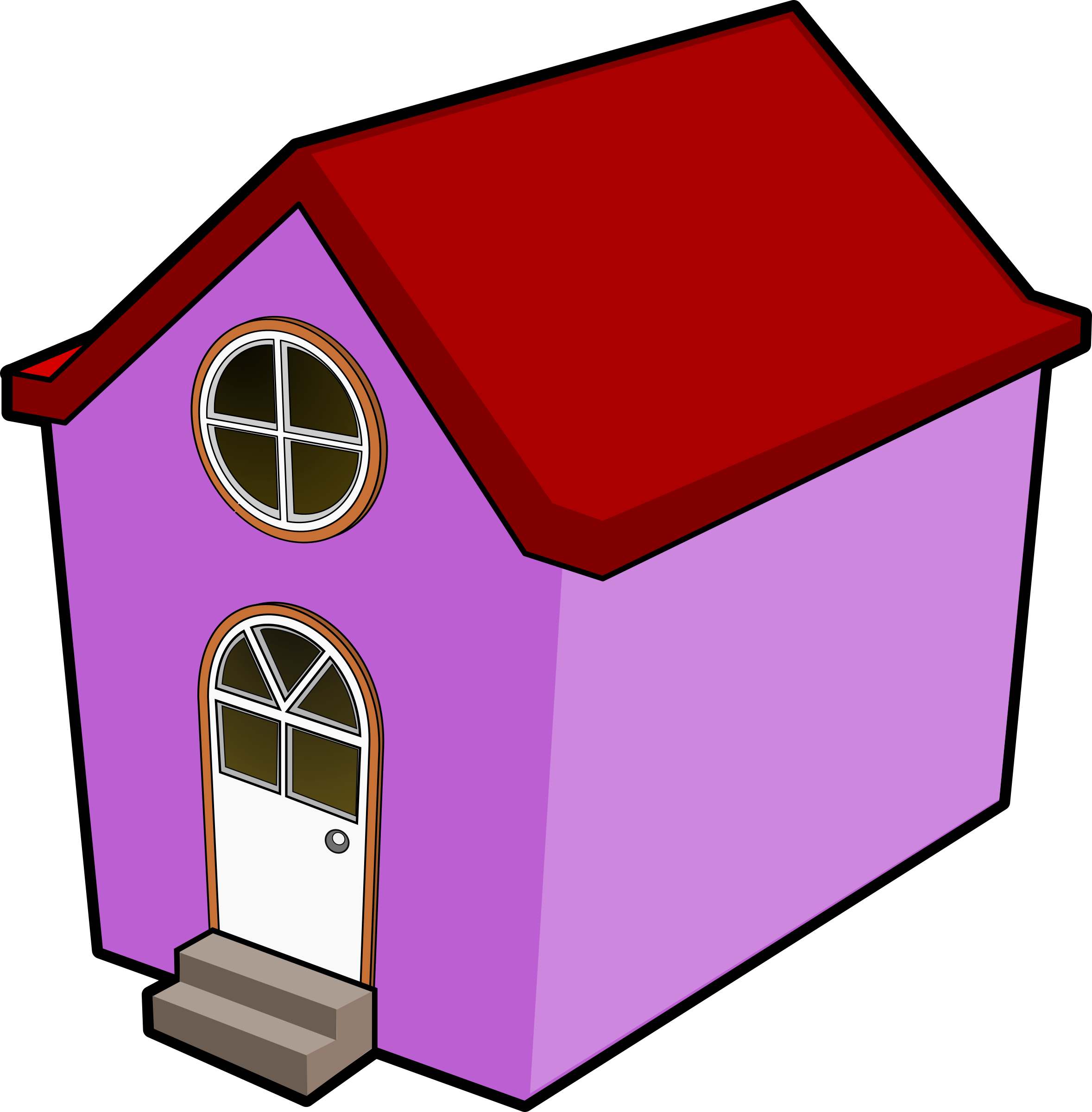 Doghouse clipart red. A little purple house