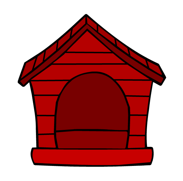 Image puffle house png. Doghouse clipart red