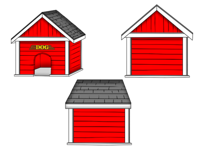 Doghouse clipart red. Pictures free download best