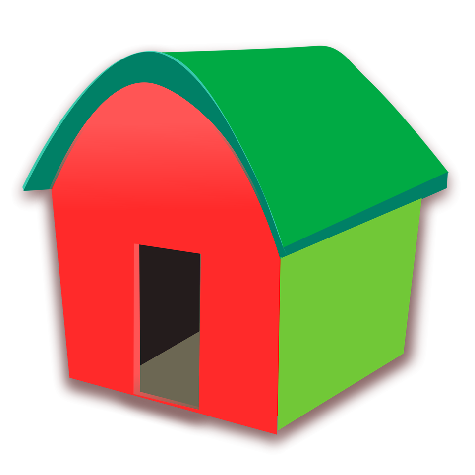 House free stock photo. Doghouse clipart red