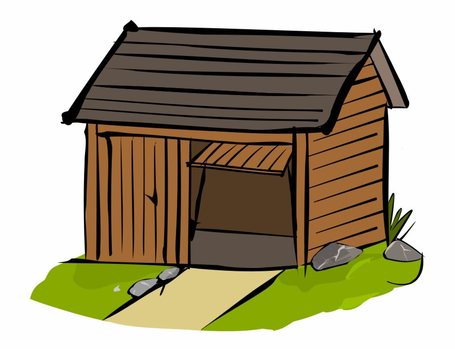 Shed transparent . Doghouse clipart solid object