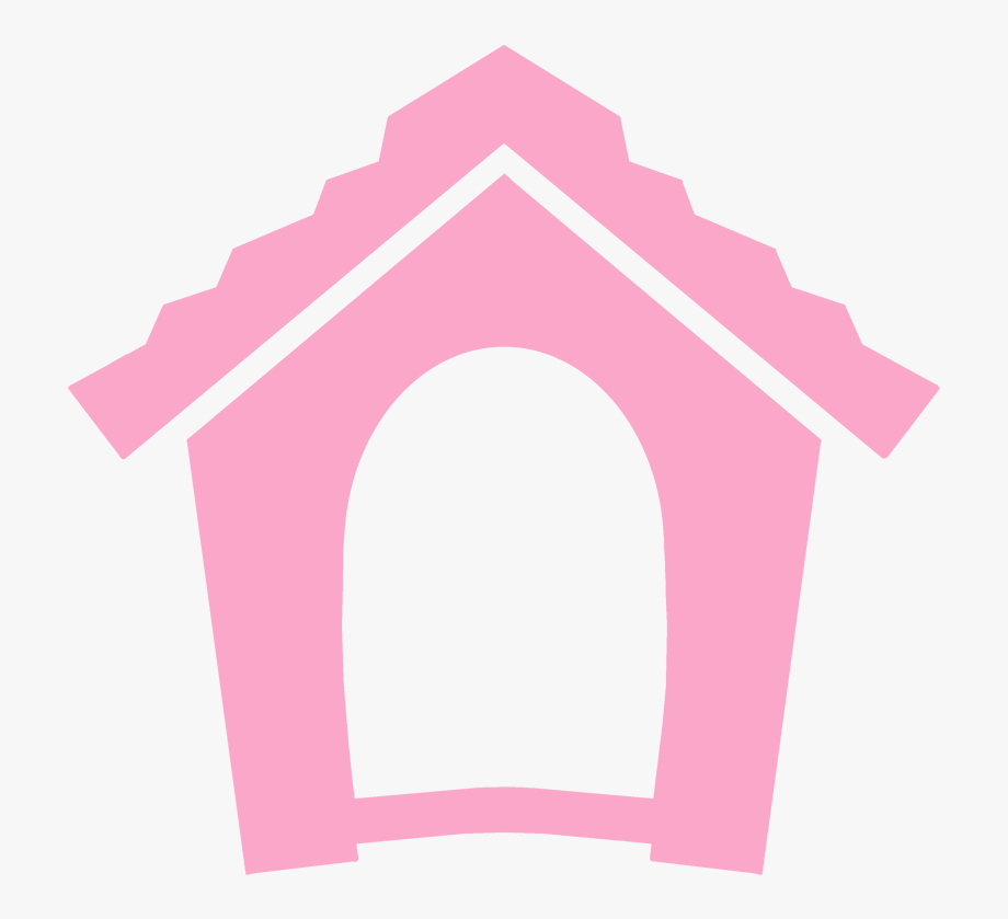 Doghouse clipart solid object. Pink dog house icons