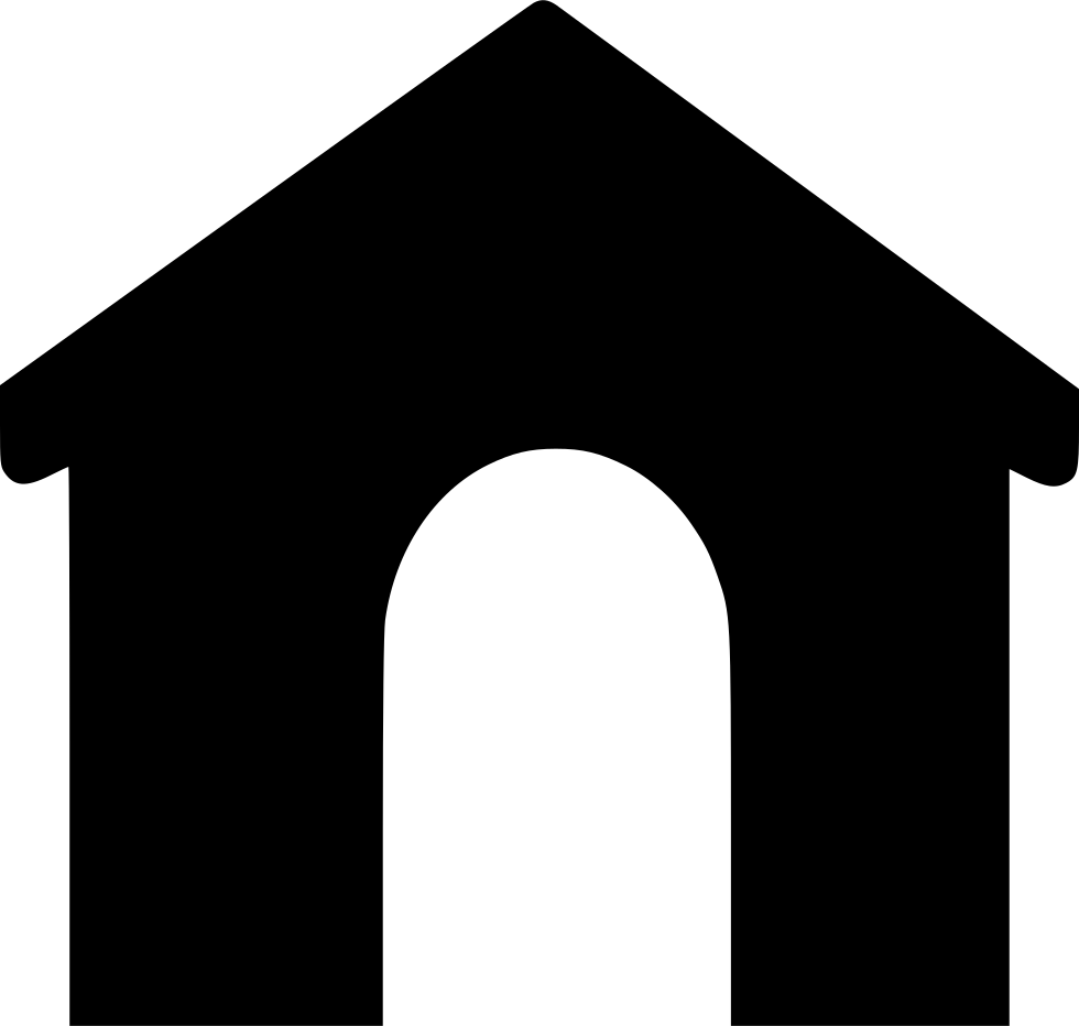 Svg png icon free. Doghouse clipart solid object