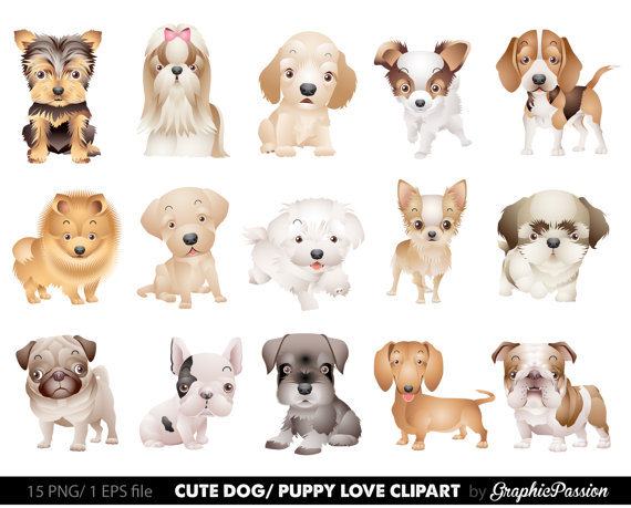 Dogs clipart. Dog puppy cute clip
