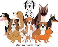 Dogs clipart. Group backgrounds