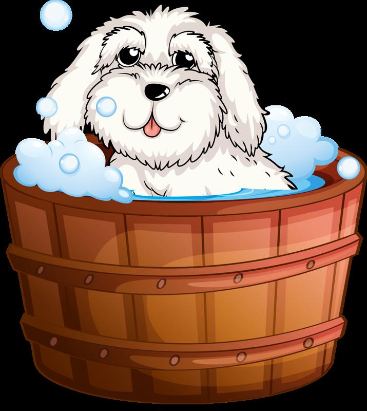 png clip art. Dogs clipart bath