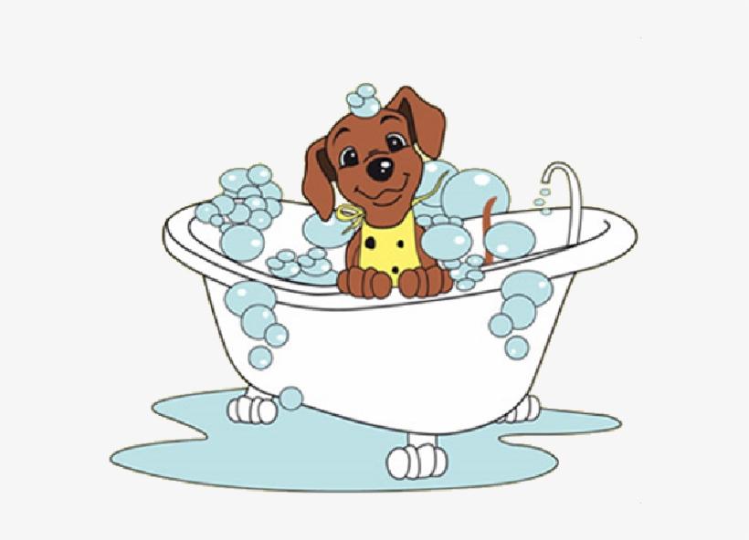 Dogs clipart bath. Dog in bathtub clip
