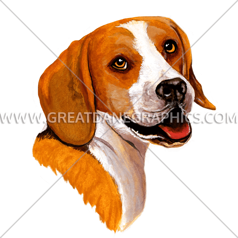 Pet clipart beagle. Production ready artwork for