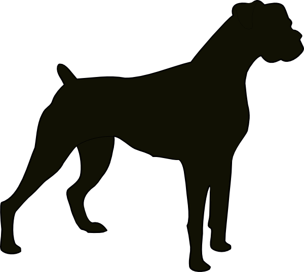 Www clker com cliparts. Dogs clipart boxer
