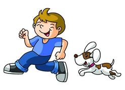 Dogs clipart boy. Free playing dog cliparts
