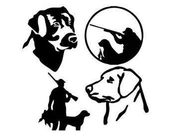 Hunting clipart black lab. Duck dog silhouette svg