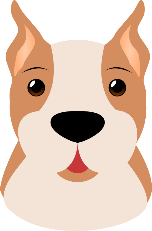 Dogs clipart head. Boxer medium image png