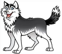 Husky clipart dogr. Free dog cliparts download