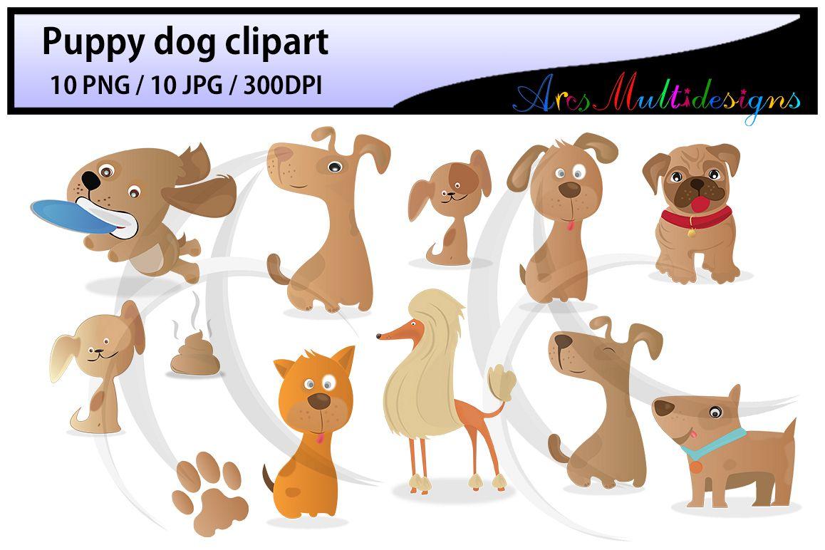 Puppy digital clip art. Pet clipart 5 dog