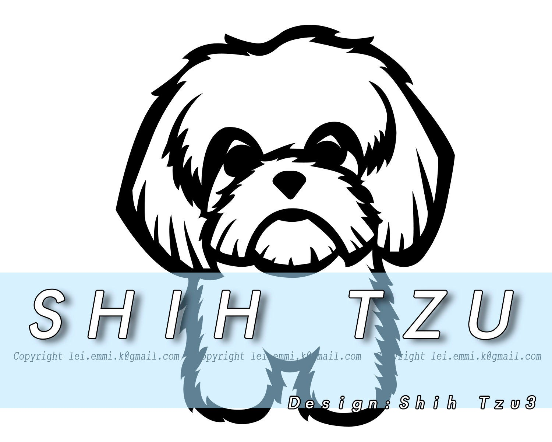 Dogs clipart shitzu. Shih tzu svg pet