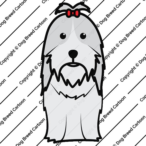 Shih tzu color edition. Dogs clipart shitzu