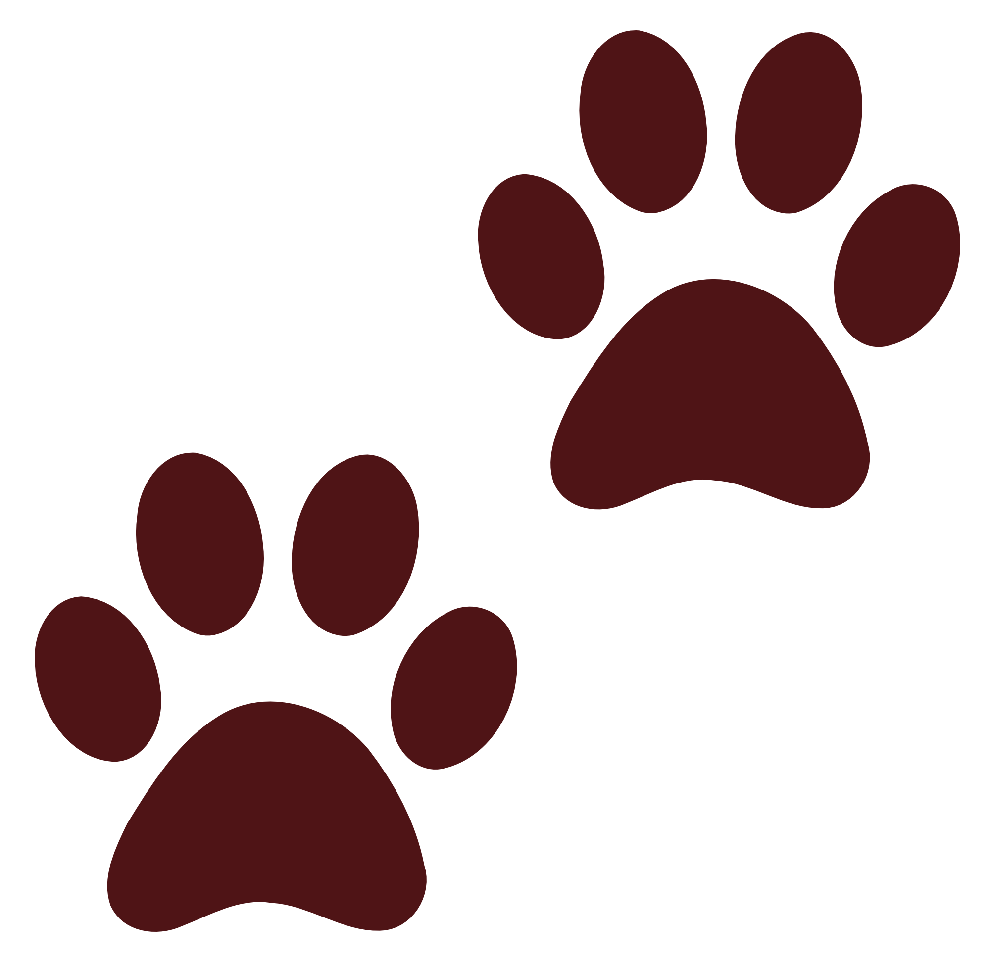 Pawprint clipart color. Dog paw print png
