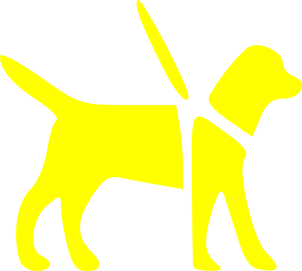 Guide dog clip art. Dogs clipart tree