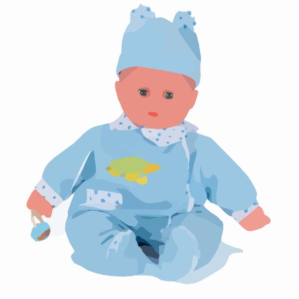 Clip art at clker. Doll clipart