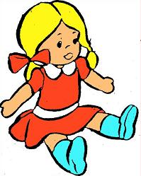 Free doll. Dolls clipart