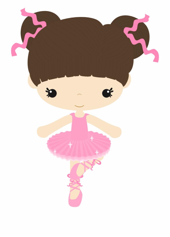 Bailarina de caricatura . Doll clipart ballet