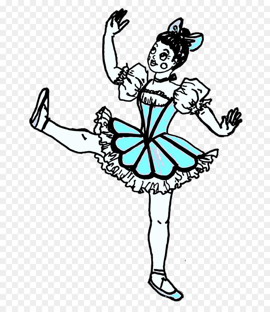 Doll clipart ballet. Black and white flower