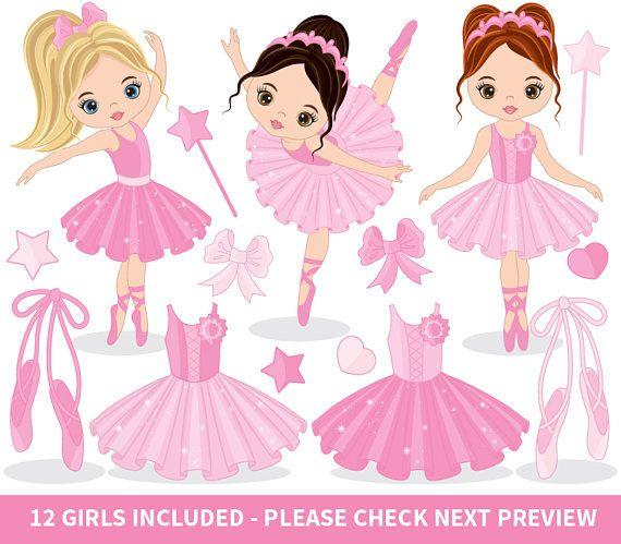 Ballerina vector . Doll clipart ballet