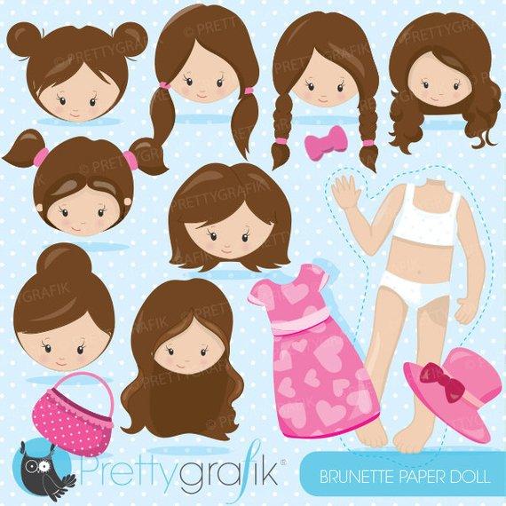 Buy get brunette girl. Faces clipart doll face