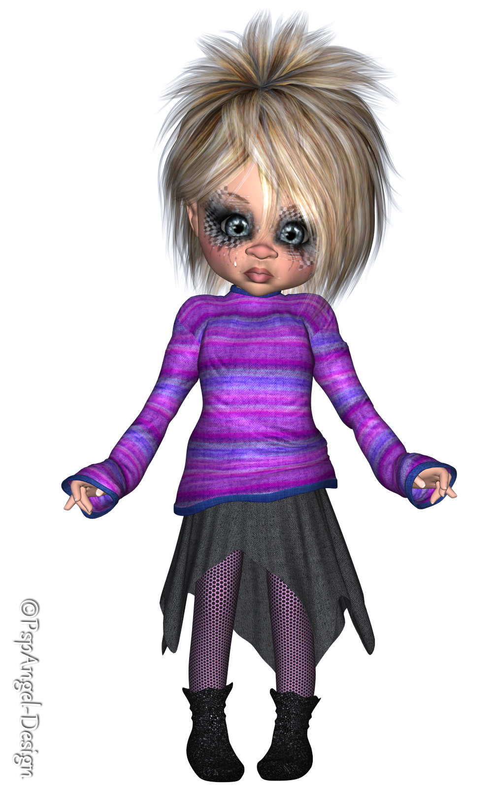 Angie s free poser. Doll clipart cute sweater