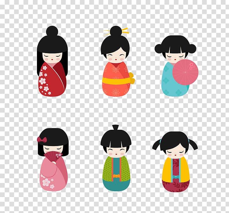 Japanese dolls kokeshi china. Doll clipart doll chinese