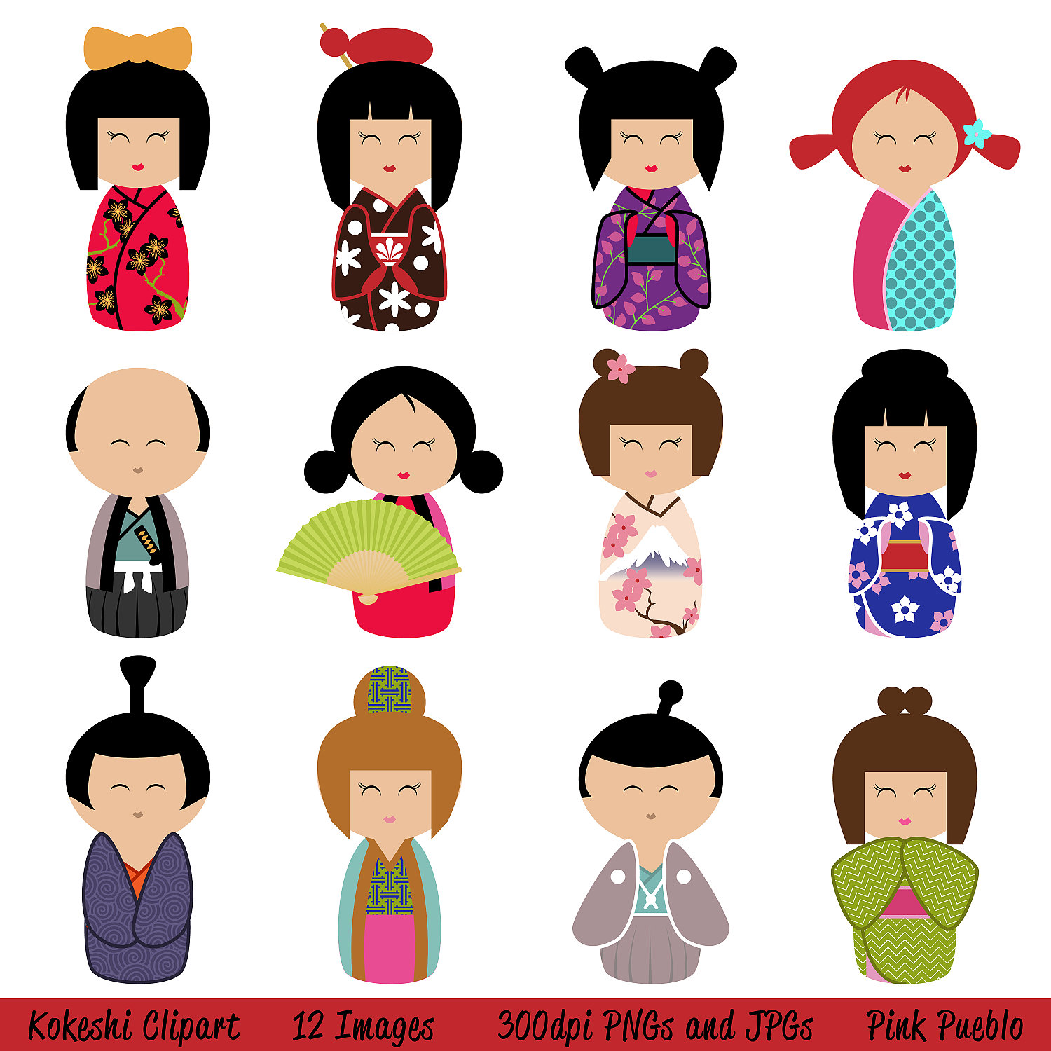 Free download clip art. Dolls clipart doll japanese