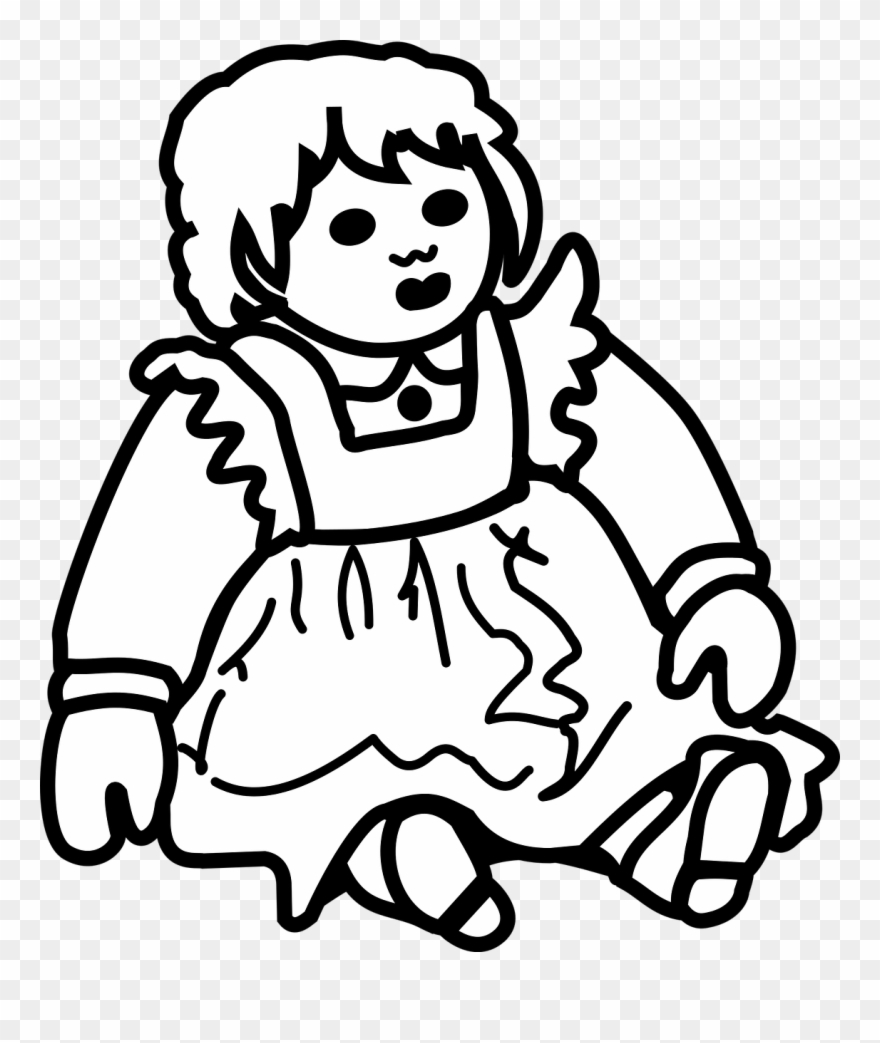Picture of png download. Doll clipart doll outline