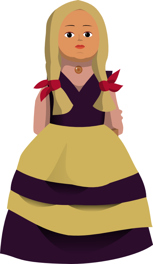 I royalty free public. Doll clipart doll outline