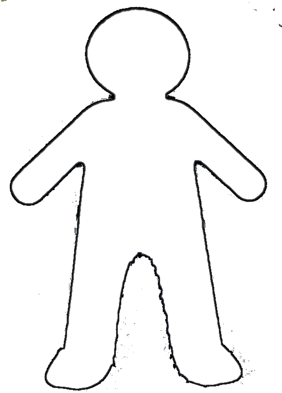 Doll clipart doll outline. Paper body template datariouruguay