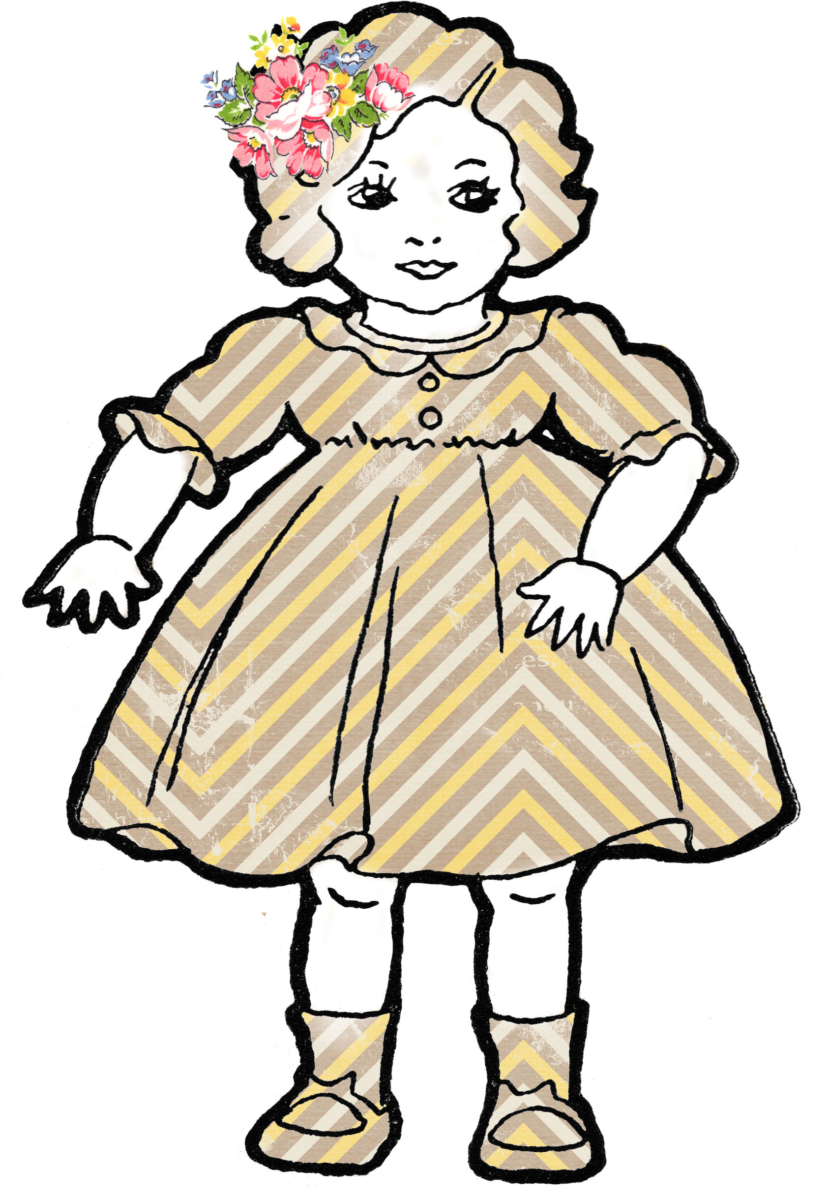 Doll clipart doll outline. Baby panda free