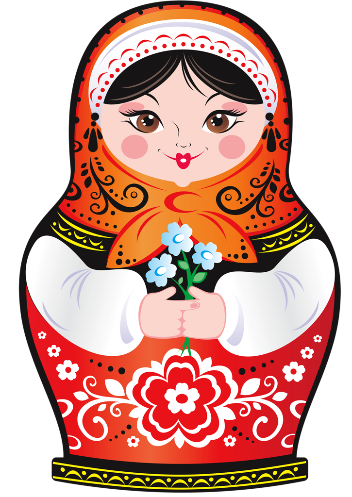 Surprise clipart child. Russian doll drawing at