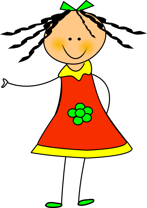 Little i royalty free. Doll clipart domain