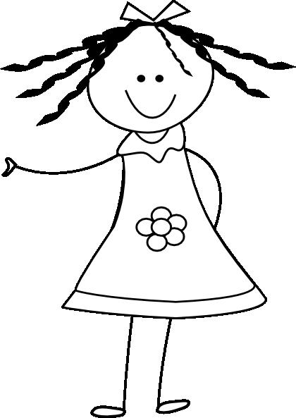 Doll clip vector online. Dolls clipart line art