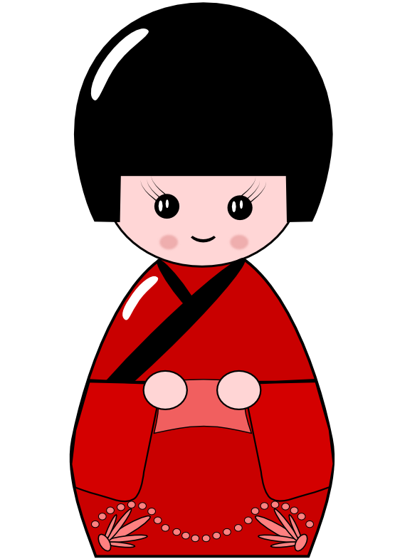 Japan clipart geisha japan. Japanese kokeshi doll px