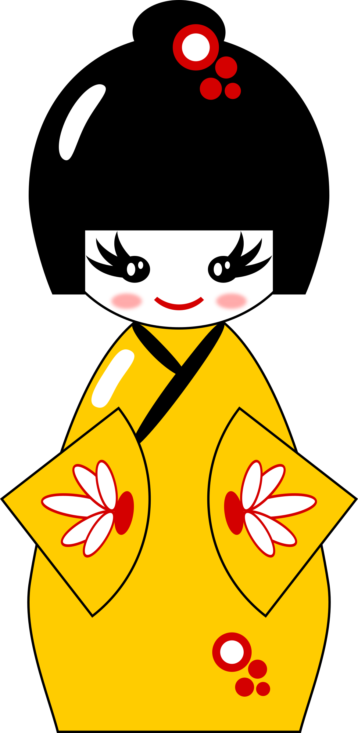 Big image png. Japanese clipart kokeshi doll