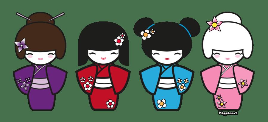 Japanese clipart kokeshi doll. Geisha coloring pages democraciaejustica
