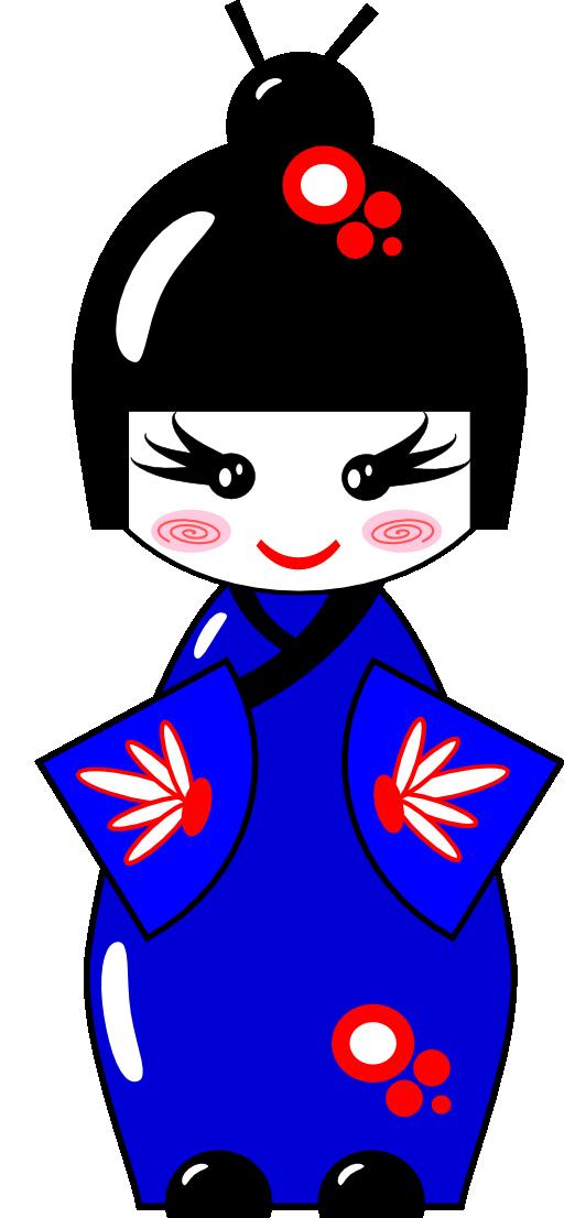 Japanese clipart kokeshi doll. I royalty free public